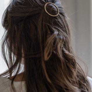 Attache cheveux Rond doré