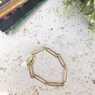 Bracelet Chaîne CARO Coeur Nacre