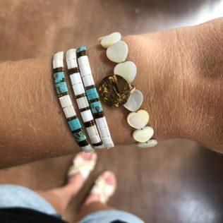 Bracelets Kara Tons Turquoise