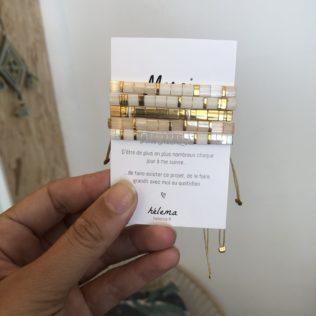 Bracelets Kara thème Beige / Blanc / Doré