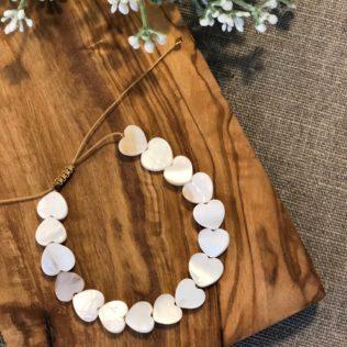 Bracelet LORA Coeur Blanc Nacre