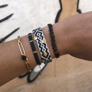 Bracelet LORA Coeur Noir