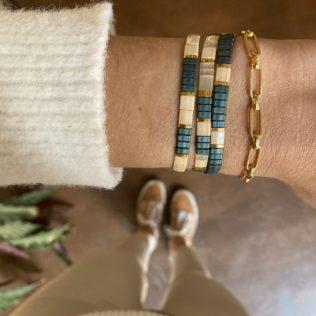 Bracelet Kara – Bleu Canard