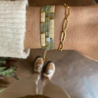Bracelet Kara – Vert d'eau