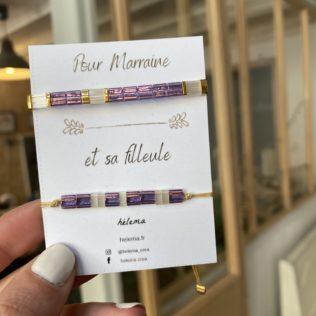 Bracelets DUO Marraine / Petite Fille