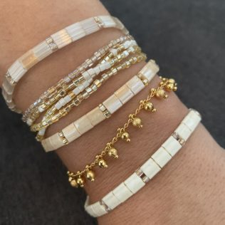 Bracelet New Kara – Tons Beige