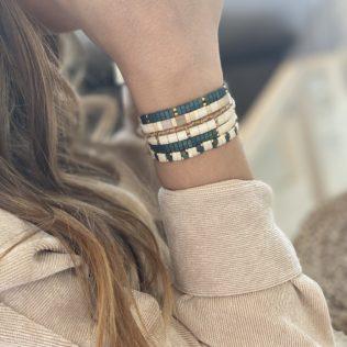 Bracelet Kara Intersaison – Bleu canard