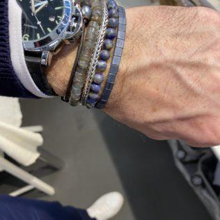 Bracelet Kara Homme – Bleu Mat