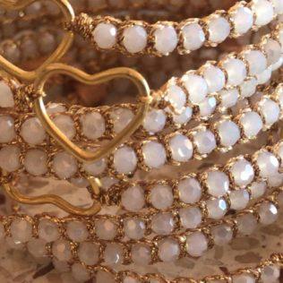 Bracelet Uluwa – Cristal Blanc Coeur