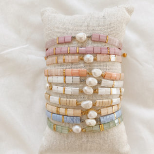 Bracelet Kara et Perle d'eau douce