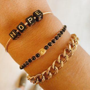 Bracelet Uluwa – Spinelle Noire
