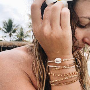 Bracelet Uluwa – Cristal Corail