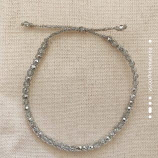 Bracelet Uluwa – Argenté – Cristal Silver