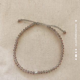 Bracelet Uluwa – Argenté – Cristal Pink