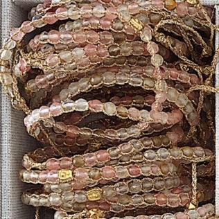 Bracelet Uluwa – Tourmaline Verte Rose