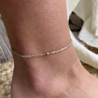 Bracelet Cheville – Bella Or Rose