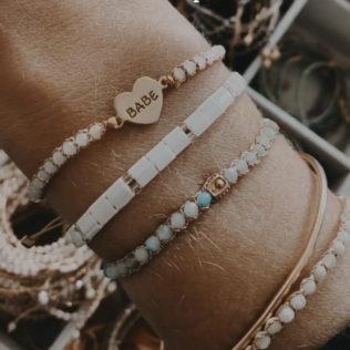 Bracelet Uluwa – Cristal Blanc Coeur BABE
