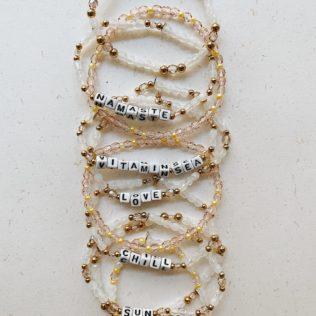 Bracelet personnalisé Vitamin Sea – Rose