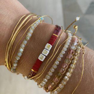 Bracelet Kara Personnalisé – Rouge