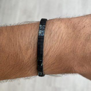 Bracelet Kara Homme – Noir et marbre