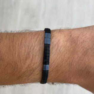 Bracelet Kara Homme – Noir et bleu