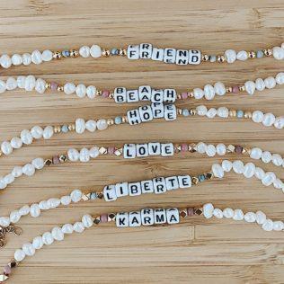 Bracelet personnalisé SORMIOU – Petites perles Roses