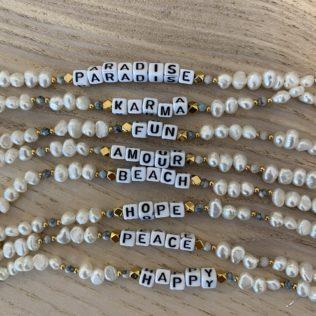 Bracelet personnalisé SORMIOU – Petites perles Bleues