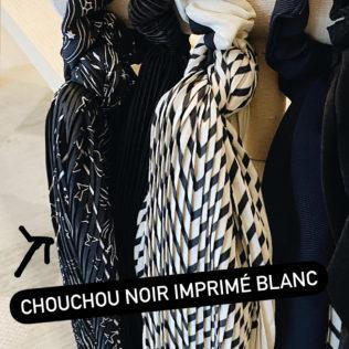 Chouchou Foulard fond Noir