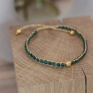 Bracelet Uluwa – Émeraude