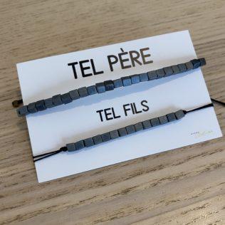 Duo Bracelets Tel père / Tel Fils