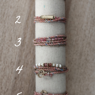 Bracelet multirang – Rose