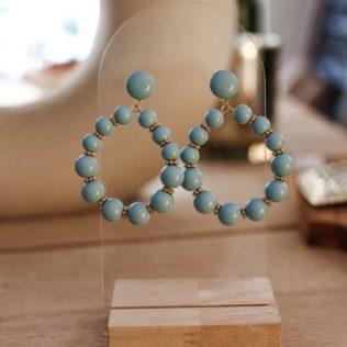 Boucles d'Oreilles Vinta Bleu Clair