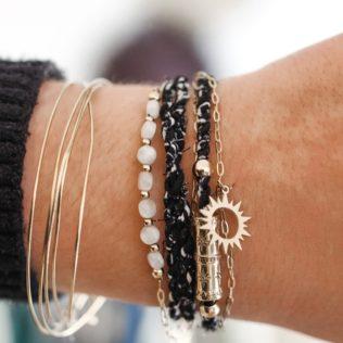Bracelet multirang – Noir