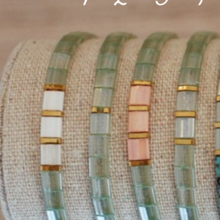Bracelets Kara Printemps – Vert d'eau