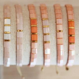 Bracelets Kara Personnalisé Printemps – Rose