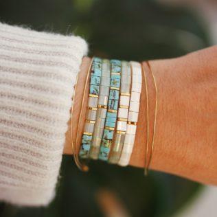 Bracelets Kara Printemps – Bleu