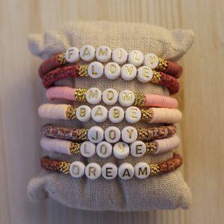 Bracelet personnalisé Manao – Rose