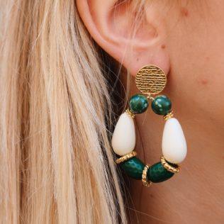 PRE COMMANDE – Boucles d'Oreilles Goldy Vert