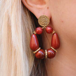 PRE COMMANDE – Boucles d'Oreilles Goldy Terracotta