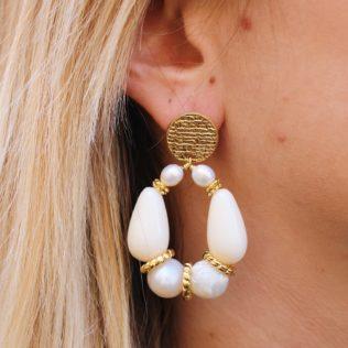 PRE COMMANDE – Boucles d'Oreilles Goldy Blanc