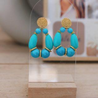 PRE COMMANDE – Boucles d'Oreilles Goldy Turquoise