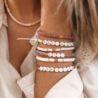 Bracelet Personnalisé Manao Blanc Crème