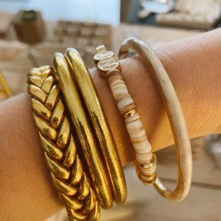 Bracelet Jonc MAMAN Coquillage – Capsule Fête des Mères