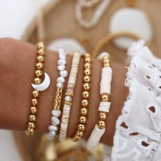 Bracelet GOLDEN HOUR – Coquillages