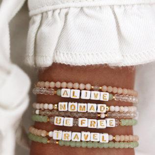 Lot de 3 bracelets IBIZA – Thème Beige / Rosé