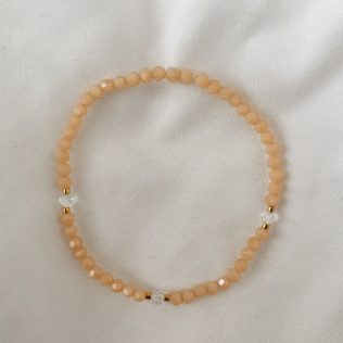 Collection IBIZA – Bracelet Uni Rose Saumon