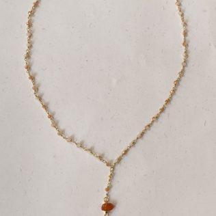 Collier Simple Tanit Orange