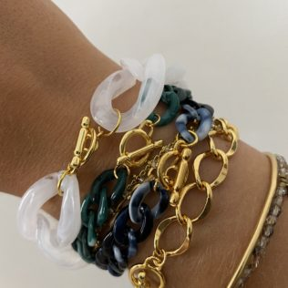 Maya Doré- Bracelet chaine maille dorée