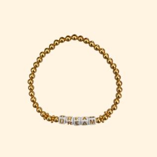 Bracelet Personnalisé GOLDEN HOUR – Boules dorées