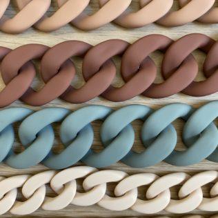 Maya MAT XL – Chaîne maille Bleu Gris